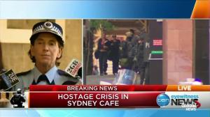 Deputy Police commissioner confirms that three hostages have fled from cafe