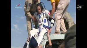 Canadian David Saint-Jacques taken from Soyuz spacecraft after landing