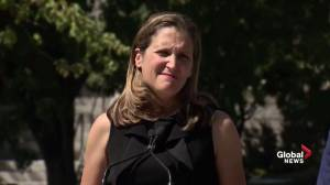 Freeland says Canada comfortable with position, reaction by Saudi Arabia a question to ask Arab kingdom