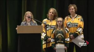 Kaleb Dahlgren's billet sisters deliver message remembering the teammates he lost