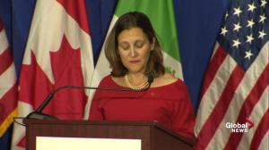 Freeland 'troubled' by unconventional proposals during NAFTA talks