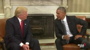 President Obama gives advice to Trump on handling reporter questions