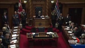 Bob Layton responds to BC's throne speech