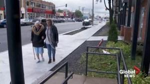 Elderly woman injured on repaired sidewalk outside seniors' residence