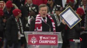 John Tory proclaims Dec. 11 as Reds Day in honour of Toronto FC MLS win