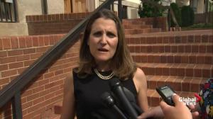 'NAFTA actually exists': Freeland