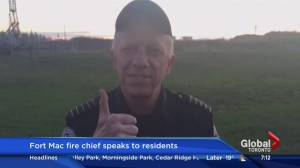 Fort McMurray fire chief speaks to residents