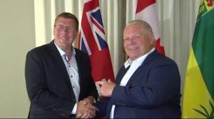 Ontario, Saskatchewan premiers disrupt meeting agenda