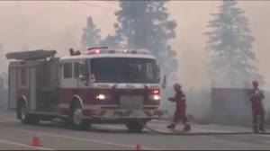 Fires burning out of control in BC's Okanagan (02:13)