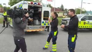 Swiss paramedics job swap with Kingston paramedics