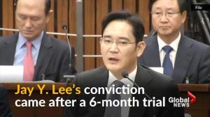 Head of Samsung Group sentenced to six months in prison