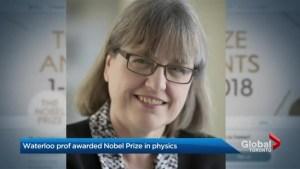 University of Waterloo professor awarded Nobel Prize