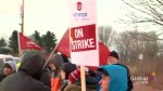 First Student bus drivers on strike in Bowmanville