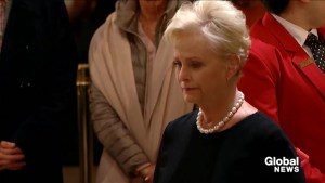 Cindy McCain pays her respect to President George H.W Bush
