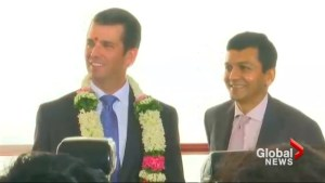 Trump Jr. attends topping-out ceremony of family's luxury condos in Mumbai