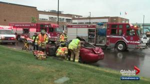 Simulated crash teaches Edmonton teens about dangers of the road
