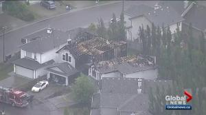Cigarette left in planter sparked fire that destroyed 2 south Edmonton homes