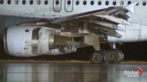 Aftermath of Air Canada jet sliding off runway