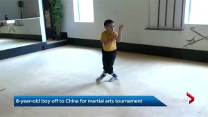 8-year-old boy youngest Canadian to compete in 2018 International Kung Fu tournament