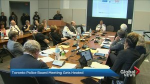 Protest breaks out at Toronto Police Services Board meeting