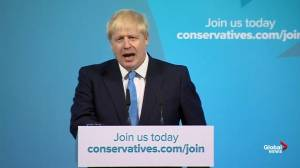 Boris Johnson thanks Theresa May for her service to Britain