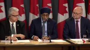 Sajjan defends buying fighter jets despite auditor general's report