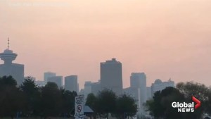 Amateur video captures smoke-filled Vancouver skyline
