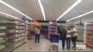 Amateur videos capture moments of panic as 7.3 magnitude quake strikes Venezuela