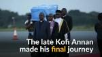 Kofi Annan's body arrives in Ghana for state funeral
