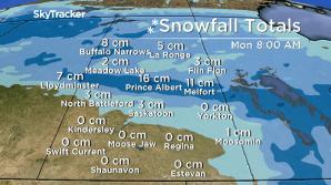 Saskatoon weather outlook cool Saturday, snowy Sunday