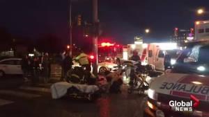 Man struck while waiting to cross Kelowna street
