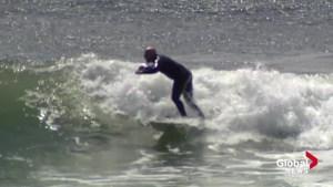 Swells from Hurricane Gert bring people to Nova Scotia beaches