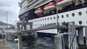 Cruise ship dock crash estimated to have caused millions in damage