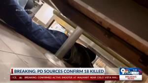 Customers inside Walmart in El Paso, TX take cover as gun shots ring out