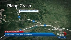 Fatal plane crash near Waiparous