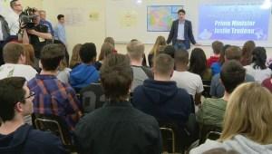 Trudeau visits Miller Comprehensive High School