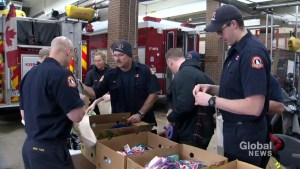 Halifax firefighters drop off care packages to those in need