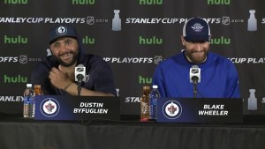 'Playing our game and keeping it simple': Jets' Dustin Byfulien on Game 1 win