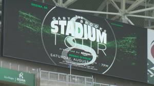Garth Brooks playing Regina's Mosaic Stadium