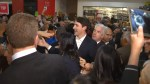 Justin Trudeau blocked from entering Scarborough mall event after being mobbed by fans