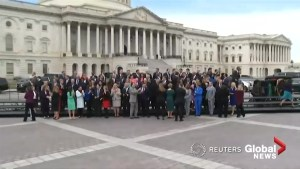 Newly-elected members of U.S. Congress pose for 'class photo'