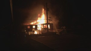 East Vancouver home goes in up flames