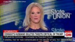 Kellyanne Conway chafes at CNN anchor's question about her husband