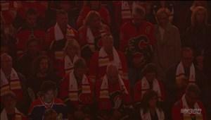 Jim Prentice honoured at Calgary Flames' home opener