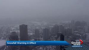 January ends in Edmonton with snowfall