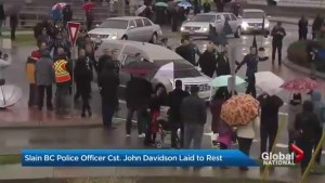 Slain BC police officer Cst. John Davidson laid to rest