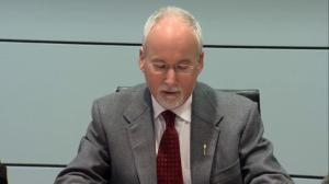 Sergeant-at-arms  becomes emotional while reading statement about RCMP investigation