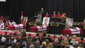 PM Harper pays tribute to fallen RCMP officers at memorial