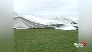 Airlander 10 collapses to ground in Bedfordshire, UK