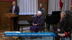 Ontario Premier Kathleen Wynne shakes up her cabinet